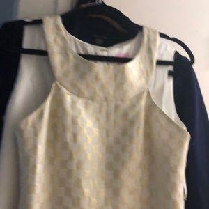 White/ Gold Dress